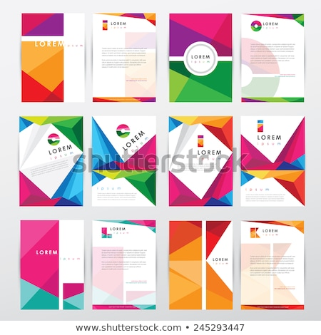Kreative lebendige Briefkopf Vektor Design abstrakten Stock foto © SArts