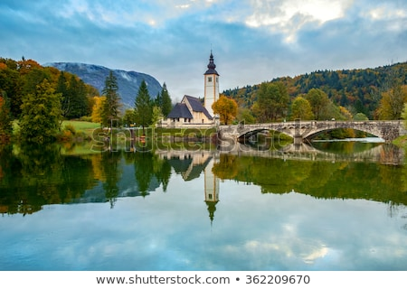 Church of St John the Baptist in Bohinj Stock photo © stevanovicigor