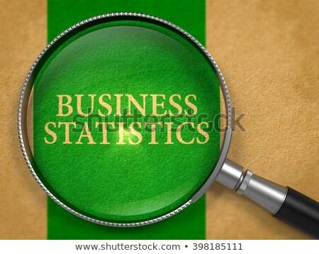 ビジネス 統計 レンズ 古い紙 緑 垂直 ストックフォト © tashatuvango