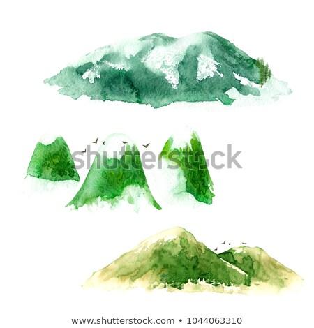 hiver · montagnes · lumineuses · coloré · forêt - photo stock © janpietruszka