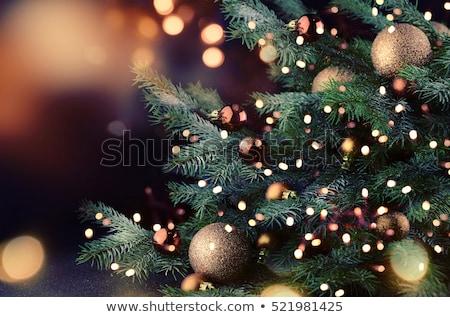 árbol de navidad juguetes aislado color vector arte Foto stock © frescomovie