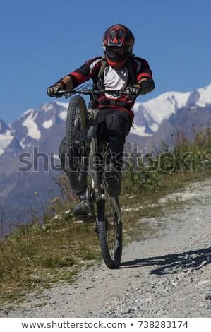 Hegy motoros húz égbolt sport orvosi Stock fotó © IS2