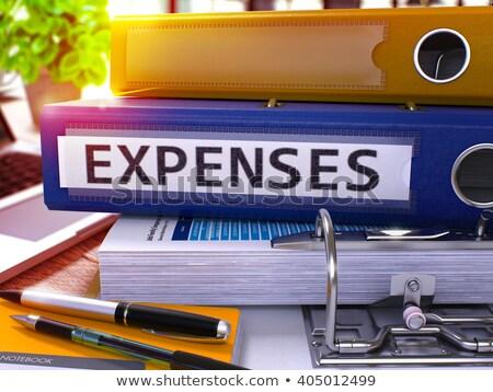 despesa · turva · imagem · ilustração · preto · trabalhando - foto stock © tashatuvango