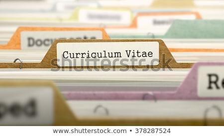 folder index with curriculum vitae 3d stock photo © tashatuvango