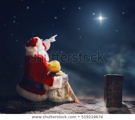 Stockfoto: Kerstman · baby · vorm · klein · kind · zak