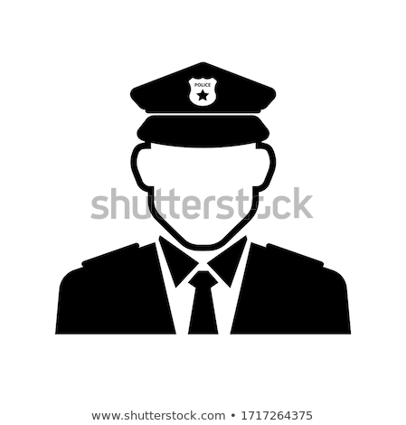 Police icon. Policeman officer sign. Cop symbol Stock photo © popaukropa