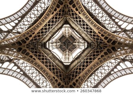 Eyfel Kulesi içinde gün batımı Paris su şehir Stok fotoğraf © Givaga