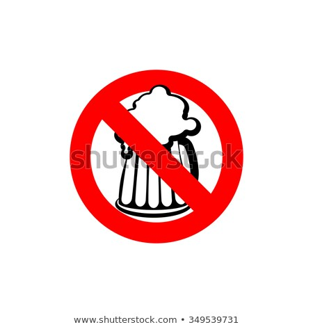 Stop beer. Forbidden alcohol. Frozen silhouette mugs with beer a Stock photo © popaukropa