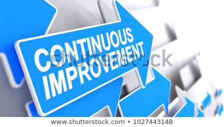 Continuous Improvement - Message on the Blue Pointer. 3D. Stock photo © tashatuvango