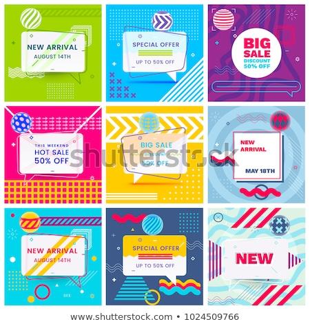 Colore etichette grande set gradiente Foto d'archivio © cammep