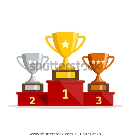 vector winners podium with trophy cups stock photo © freesoulproduction