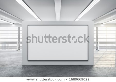 белый · подиум · служба · интерьер · 3D - Сток-фото © user_11870380