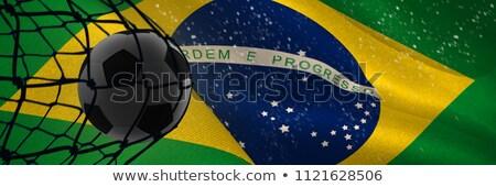 Futball hát net digitálisan generált Brazília Stock fotó © wavebreak_media