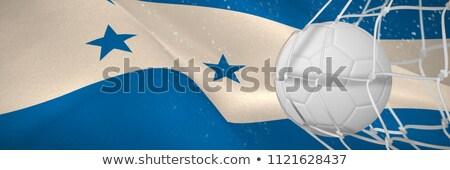 サッカーボール 目標 純 デジタル 生成された フラグ ストックフォト © wavebreak_media