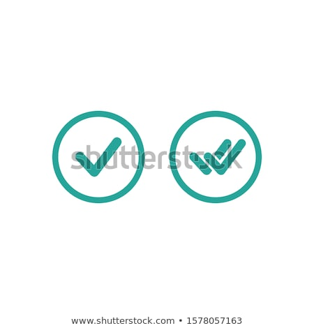 Illustration of an isolated vector badge icon with a check mark. Stock photo © kyryloff