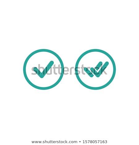 jóváhagyás · ikon · illusztráció · művészet · terv · gomb - stock fotó © kyryloff
