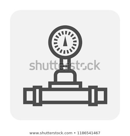 Nyomás kaliber cső közelkép réz fűtés Stock fotó © hamik