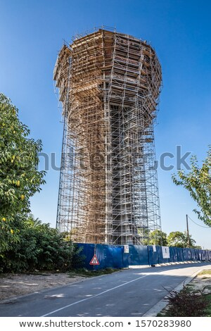 Vukovar water tower under reconstruction Stock photo © xbrchx