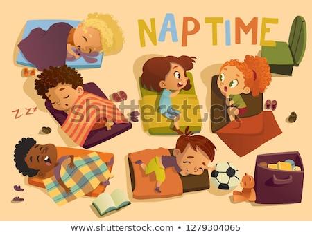A girl having a nap time Stock photo © bluering