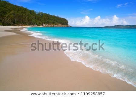 Figueiras nudist beach in Islas Cies island of Vigo Stock photo © lunamarina
