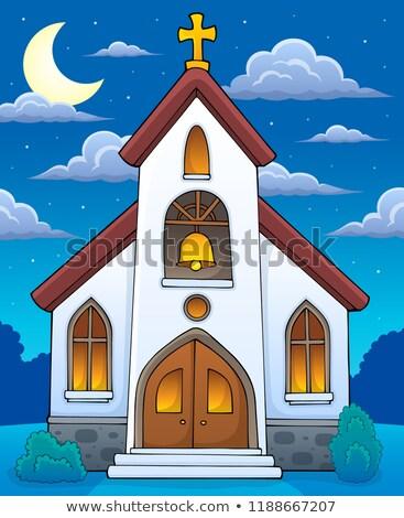 Edificio de la iglesia imagen edificio arte iglesia noche Foto stock © clairev