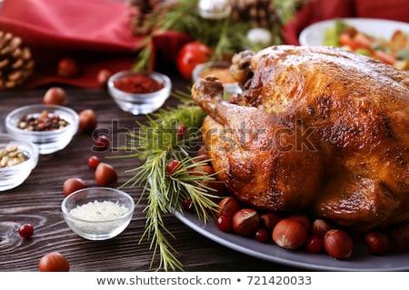 Foto stock: Ingredients To Prepare A Stuffed Turkey