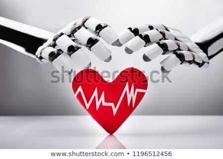 Robot cuore impulso tasso primo piano robotico Foto d'archivio © AndreyPopov