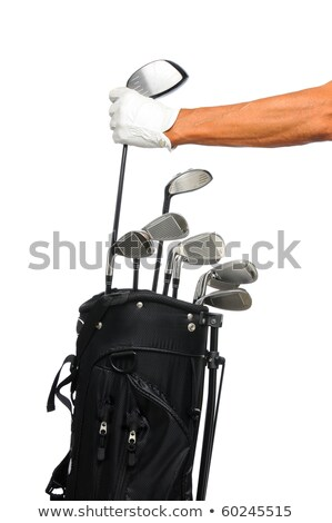 Golfer choosing club from bag Stock photo © Kzenon