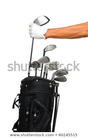 mutlu · kadın · golf · golf · kulüp - stok fotoğraf © kzenon