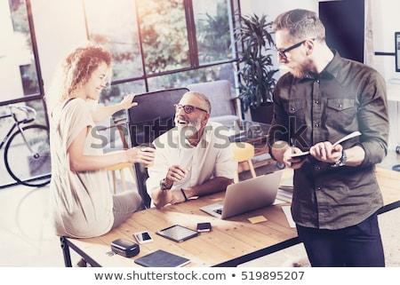 Blur persone pausa caffè tempo abstract seminario Foto d'archivio © smuay