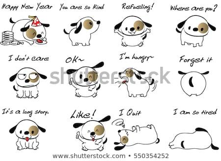 Angry Cartoon Dog Stock photo © cthoman