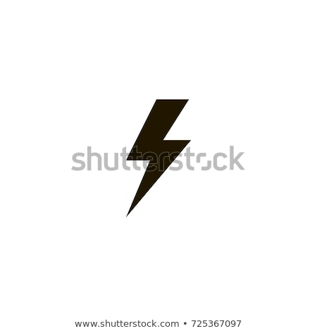 yellow lightning or charging icon vector simple flat symbol yellow pictogram illustration on black stock photo © kyryloff