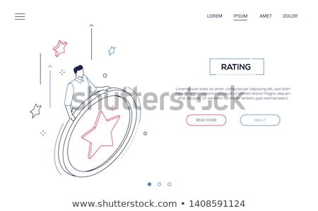 Rating section - modern isometric vector web banner Stock photo © Decorwithme