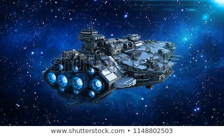 Astronave vuelo galaxia ilustración tecnología arte Foto stock © colematt