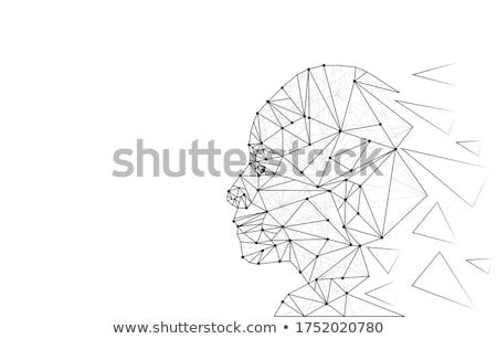 identificazione · riconoscimento · faccia · tecnologia · blu · mail - foto d'archivio © ra2studio