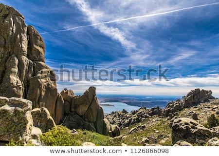 Tırmanma İspanya rota duvar dağ kaya Stok fotoğraf © pedrosala