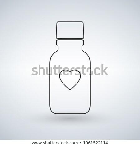 линейный таблетки бутылку икона сердце современных Сток-фото © kyryloff