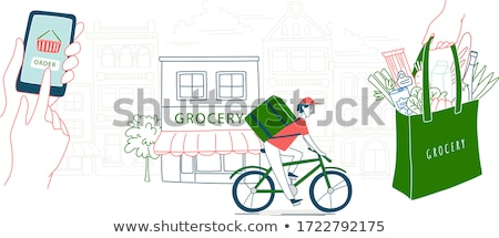 Delivery bicycle vector illustration Stock photo © YuriSchmidt