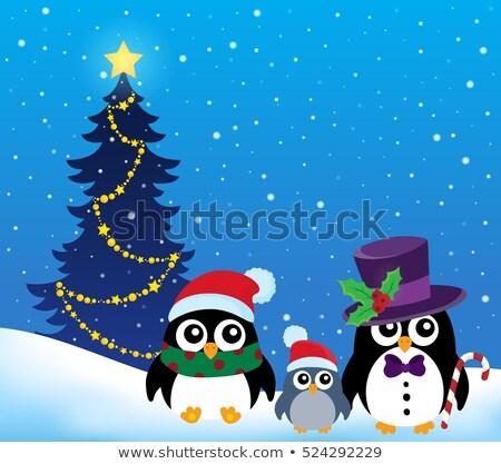 Noël image heureux neige art hiver Photo stock © clairev