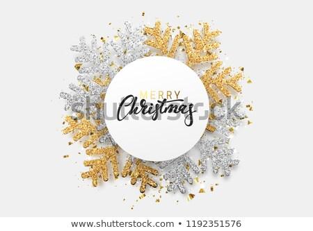 christmas · banner · diamant · sneeuw · ontwerp · glas - stockfoto © artspace