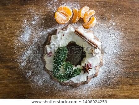 Saboroso libra bolo frutas branco fresco Foto stock © laciatek