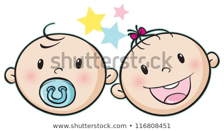 Cartoon bebé cara icono vector Foto stock © mumut