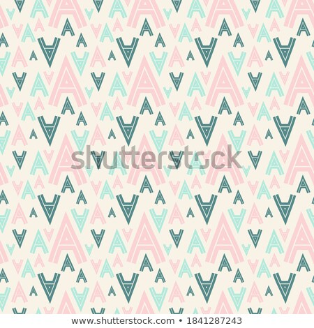 green and beige arrow shaped letter a vector illustration stock photo © cidepix