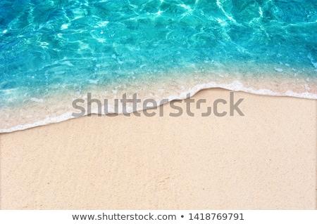 beach shorelines wavy textures ocean blues stock photo © lovleah