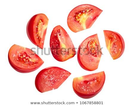 Tomate rebanadas salado piezas superior vista Foto stock © maxsol7