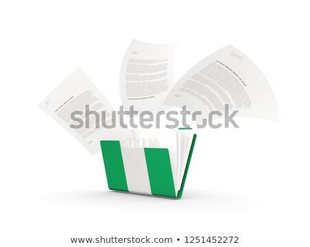 Klasör bayrak Nijerya Dosyaları yalıtılmış beyaz Stok fotoğraf © MikhailMishchenko