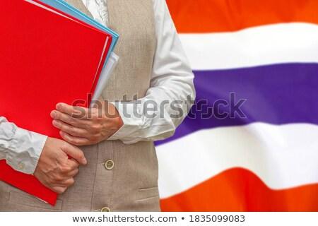 папке флаг Таиланд файла изолированный белый Сток-фото © MikhailMishchenko