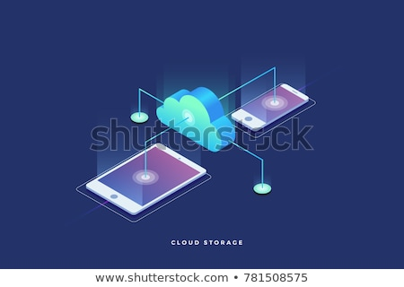 Global web connection isometric 3D concept illustration. Stock photo © RAStudio