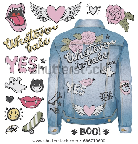 Rock Jacket of Denim Cloth Vector Illustration Stock photo © robuart