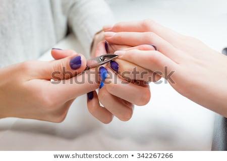 Mester pedikűr körmök közelkép steril kesztyű Stock fotó © ruslanshramko